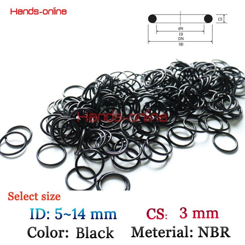 Rubber O-Ring section 1.9 mm Qty:100 Sélectionner plus de diamètre