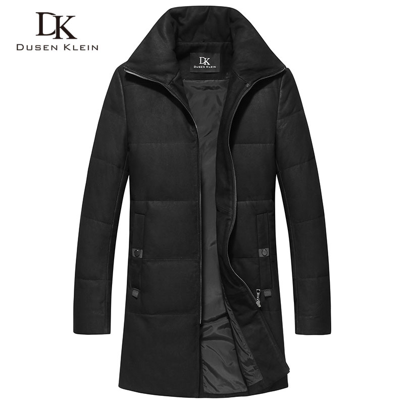 Luxury Down jacket Long coats men Genuine sheepskin New 2018 Brand Dusen Klein winter coats Dovetail trench coat men 71S17026