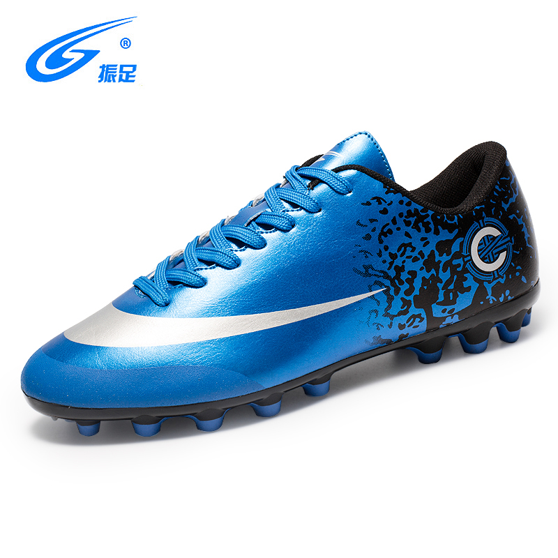 AG Professional Football Shoes PU Leather Lace-Up Male Soccer Shoes Long Spikes Outdoor Sneakers Chuteira Futebol