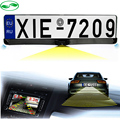 3in1 New Night Vision European License Plate Frame Video Parking Sensor Reverse Backup Radar With Car Rear View Parking Camera