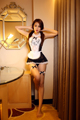 Selebritee Girl Costumes Sexy Maid Lingerie for Women Erotic Apron Net Yarn Fabric Lace Leglets Transparent Cosplay Role Playing
