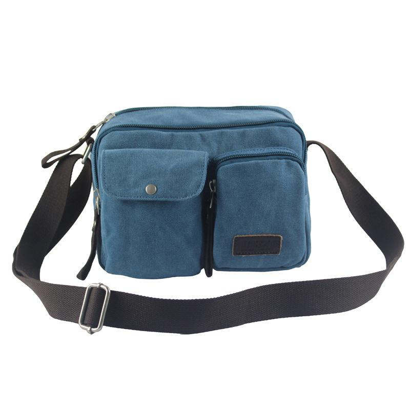 2017 New Men Canvas Bag Casual Bag High-quality Canvas Crossbody Shoulder Bag цены