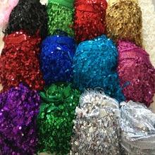 Shiny 10Yards/lot 16CM Width Laser Sequin Tassel Fringe Trim For Latin Dance Dress/Costume Decoration