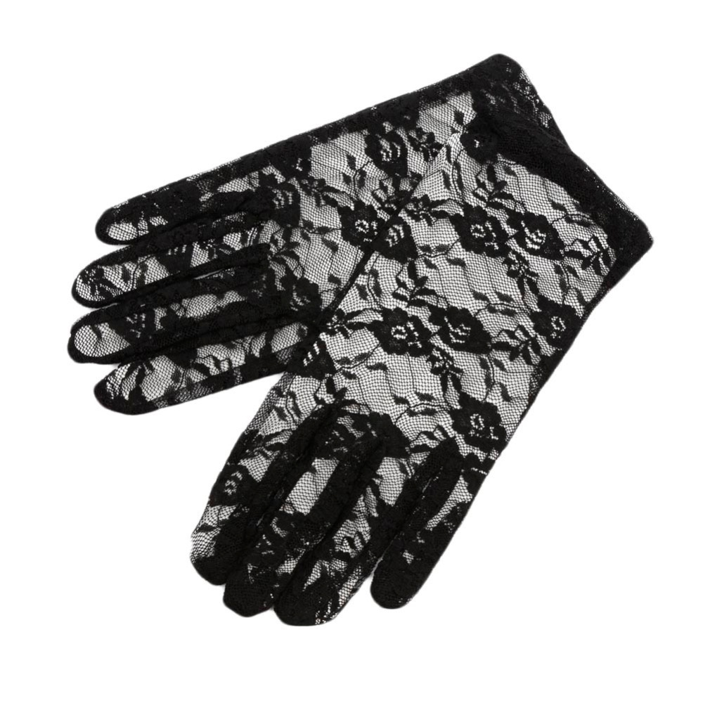 High Quality Sun Protection Accessories Lace Hollow-Out Gloves Delicate Lace Jacquard Pattern Lace Gloves