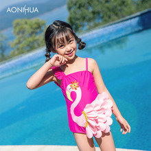 AONIHUA One-Piece Suits Swimwear For Girls Outdoor Sports Beach Batching Suit Children Girl Swimsuit 2-12 Years Old