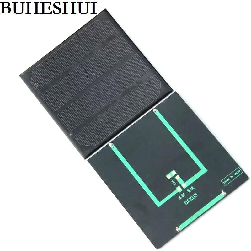 BUHESHUI 2W 6V Solar Panel Mini Solar Cell DIY Solar Charger System For 3.7v Battery Monocrystaline Epoxy 5pcs/lot Free Shipping