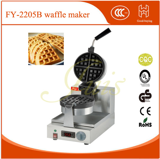 New!110v/220vNon-Stick  Digital controled cake cafe shop rotate waffle maker