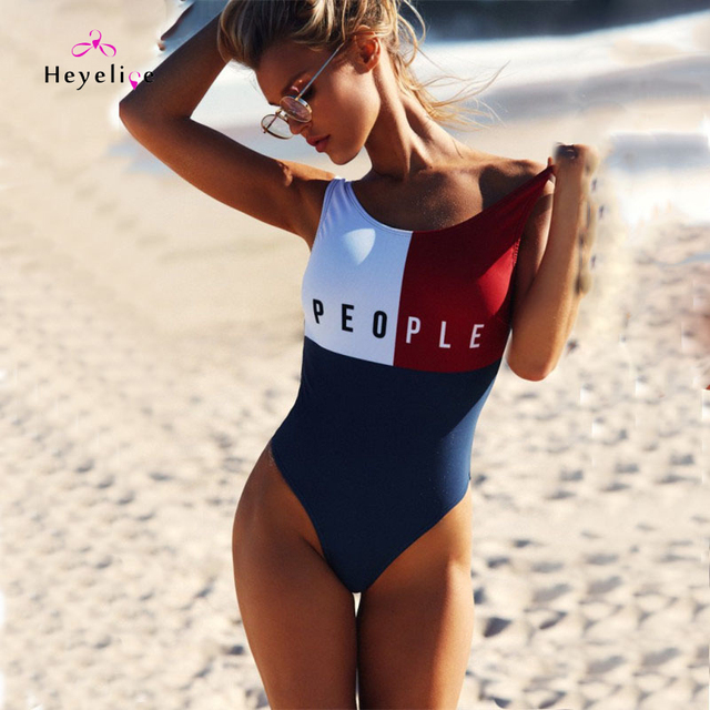 b897dcbb12b21 New One Piece Swimwear Women Vintage Beach Girls Bathing Suits Push Up Sexy Swim  Suits High