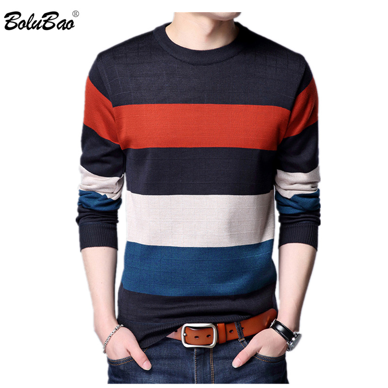 BOLUBAO Sweaters Pullover O-Neck Slim-Fit Long-Sleeve Homme Autumn Male Men Fashion-Brand