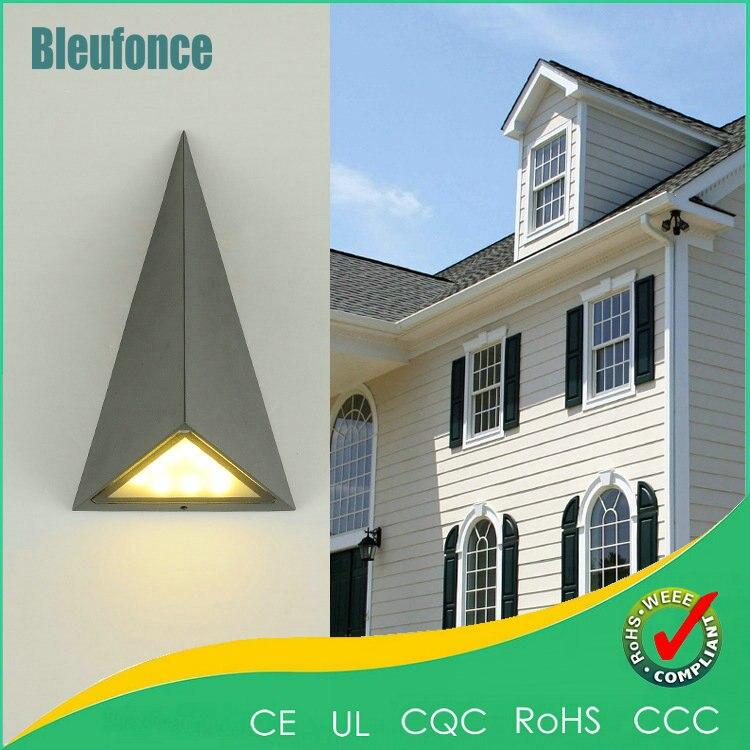 ФОТО Modern Simple Aluminum Indoor Wall Lamp Outdoor Waterproof Wall Lamp 9W LED Lighting Light Wall Sconce Garden Lights AC85-265V