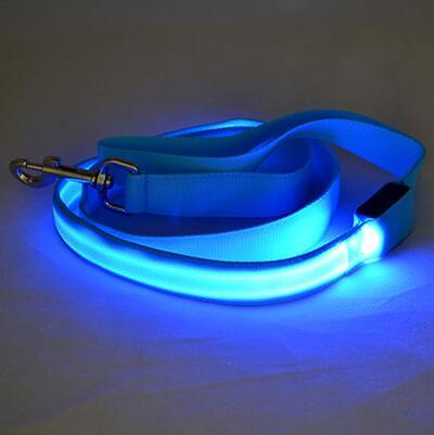 Colorful Nylon Safety LED Light Dog Leash