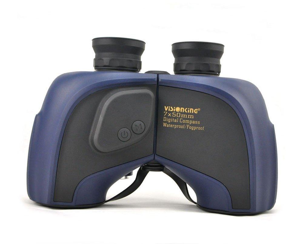 Visionking 7x50 Floating Binoculars Digital Compass Waterproof Range Finder Camping Travelling Hunting Telescope Binoculars