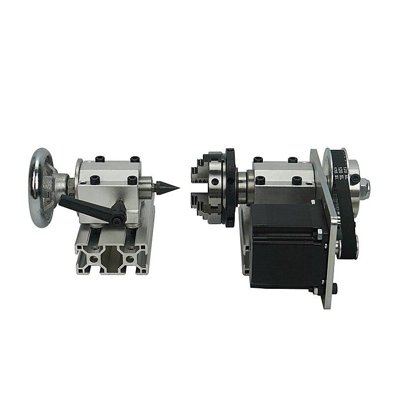 CNC contre-pointe-B 4 axes MT2 axe rotatif tour Machine de gravure mandrin pour mini CNC 3020 3040