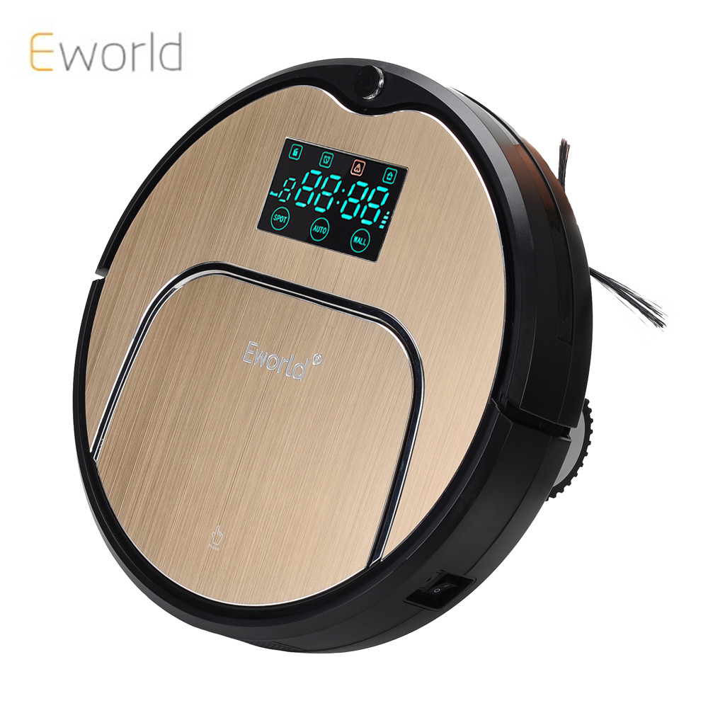 Eworld M883  Robot Vacuum Cleaner Automatic Dust Home Cleaner ,Golden lid HEPA Filter Sensor Remote Control Self Charge, robot vacuum cleaner for home hepa filter sensor automatic vacuum cleaner household intelligent robotic vacuum cleaner krv205