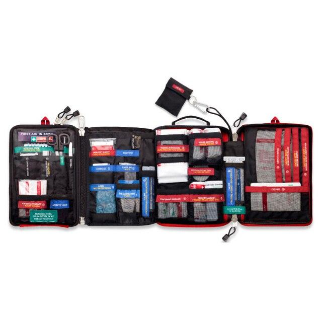 Bezpieczne przetrwanie w dziczy podróż samochodem apteczka torba medyczna na zewnątrz Camping piesze wycieczki zestaw ratunkowy leczenie 4 sekcje Pack