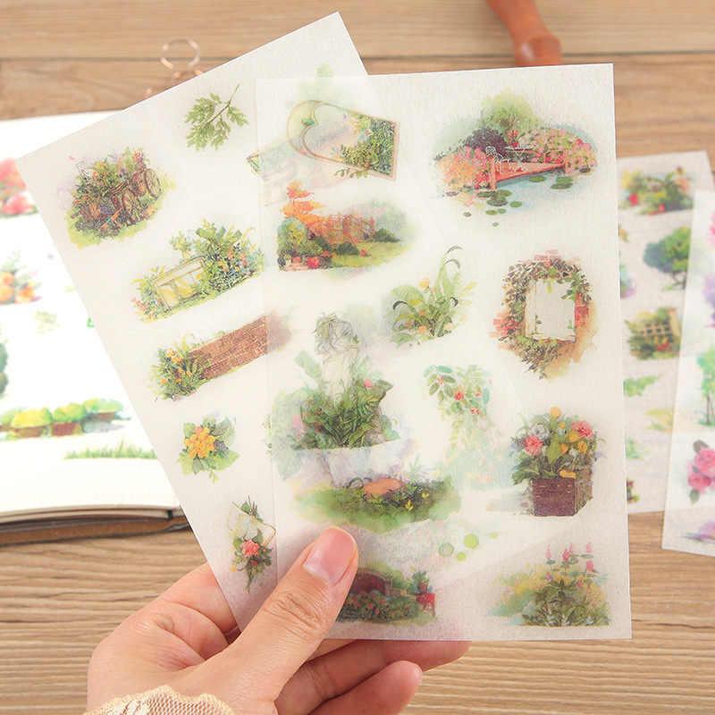 6 قطعة لقاء جديد سري حديقة الأطفال القرطاسية ملصقات ل DIY الالبومات سكرابوكينغ يوميات الديكور الكرتون تصور