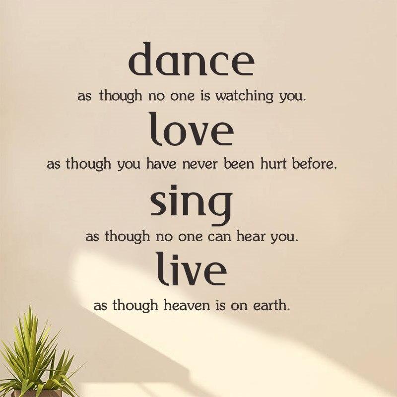 Online kaufen gro handel inspirational tanz zitiert aus - Zitate singen ...