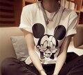 2015 Женщин Мыши Короткий Рукав футболки Женщины Тонкий футболки Бесплатная доставка Футболки Harajuku