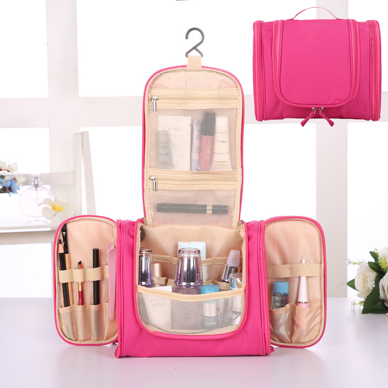 2019 New Large Capacity Multi-layer Polyester Travel Makeup Bathing Bag Unisex Outdoor Wash Bag Women Cosmetic Toiletry Kits Bag