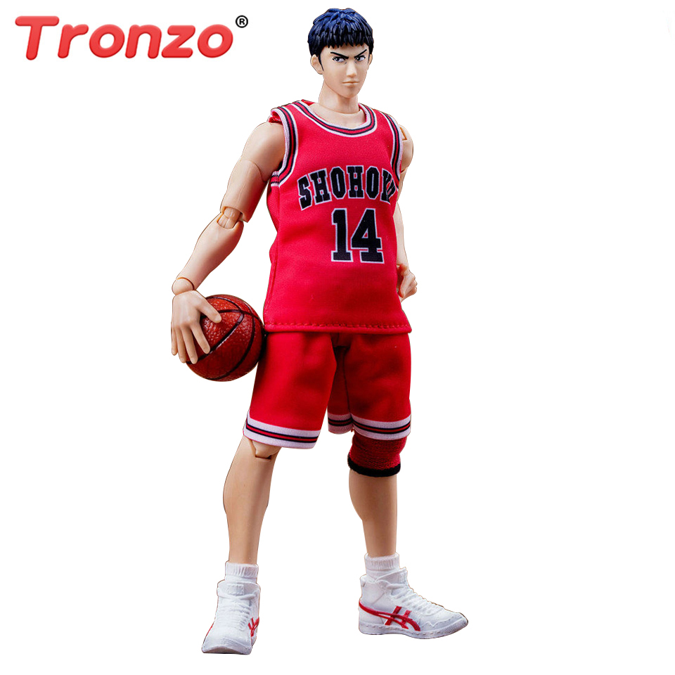 Tronzo Slam Dunk Basketball #14 Mitsui Hisashi S.H.F Action Figure Japanese Anime PVC Toys Figure Christmas Gift Items 2015 slam dunk action figures 5 pcs set japanese anime figure 8cm hot toys pvc cartoon figure kid gift brinquedo free shipping