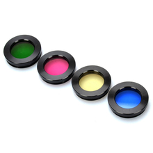 4pcs/set 1.25in Optical Glass Filters Astronomical Telescope Accessories Inch Thread Blue Red Yellow Green Filter for Astrophile