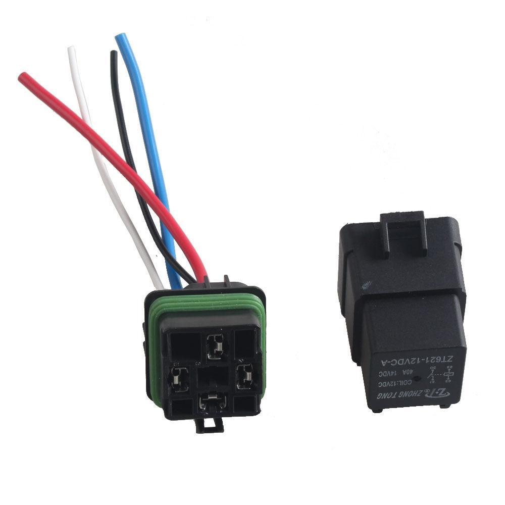 Ee Support 5pcs Auto Truck 12v 40a Spst Relay Socket Plug