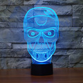 Creative Artistic 3D Visualization Skull Shpe LED Night Table Lamp for Home Decoration