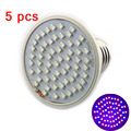 5pcs/lot 60 leds plant grow lights for Garden Flower growing light bulbs Hydroponics System green house flower vegetable grow