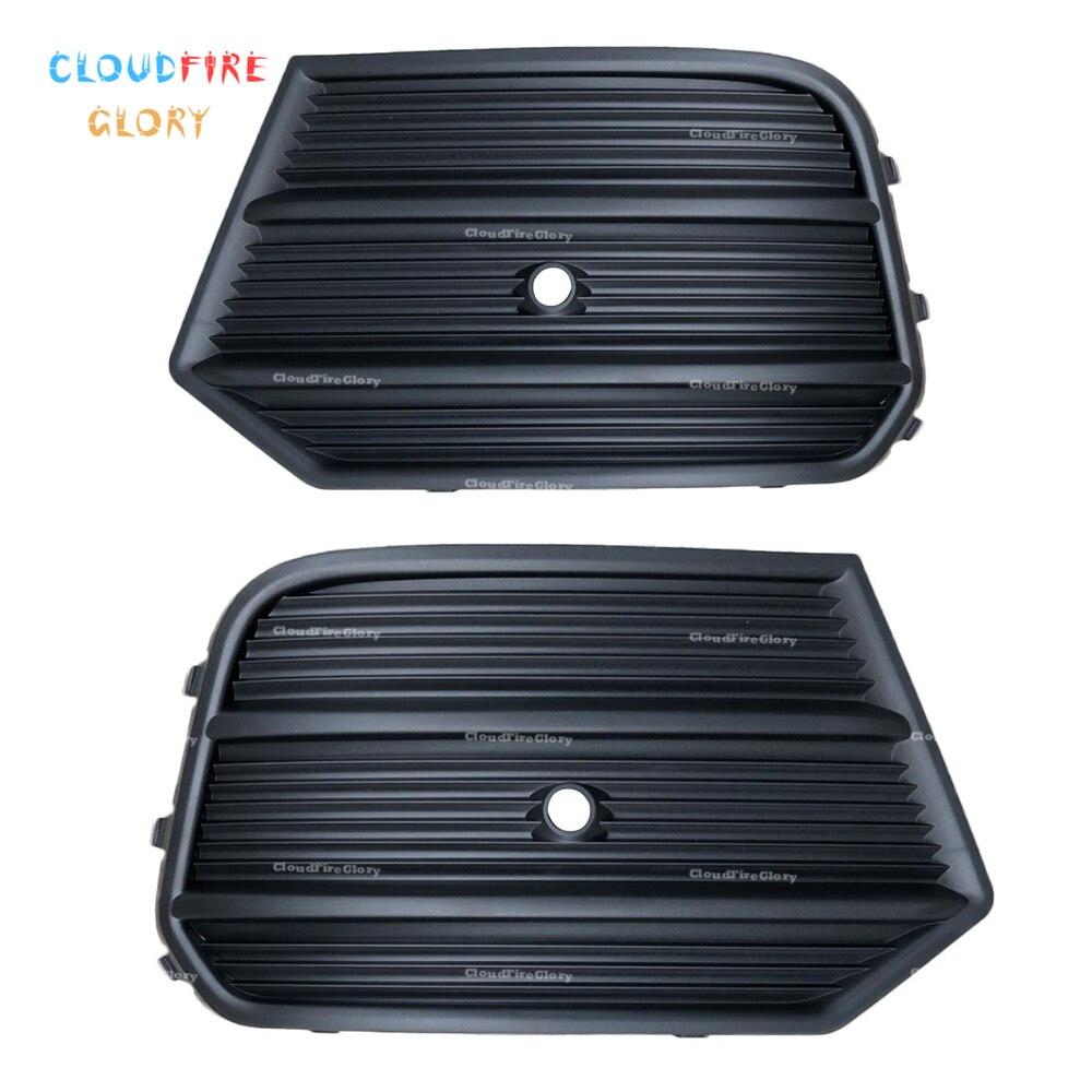 CloudFireGlory 8U0807681Q 8U0807682Q Pair Left Right Lower Bumper Grille Fog Light Grille W Radar Hole For