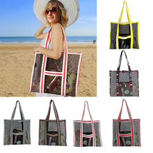 Portable Swimming Bag Foldable Mesh Beach Bag For Adult Handbag Outdoor High Capacity Sundries Storage bag Swim Waterproof Bags