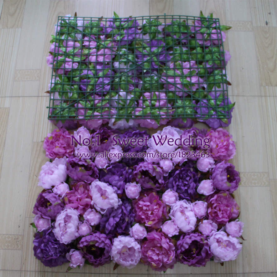 New Wedding Decoration Artificial Purple And Light Purple Peony And