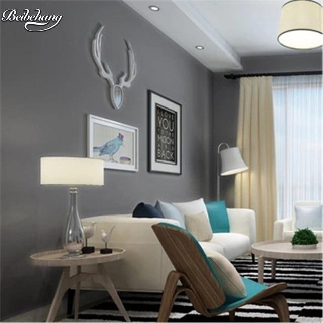 Beibehang Modern Simple Color Non Woven Wallpaper