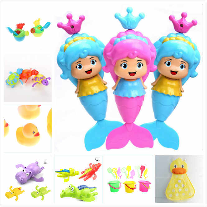 Baby Shower Bath Toys Little Duck Little Frog Baby Kids Toy Storage Mesh with Strong Suction Cups Toy Bag Net Bathroom