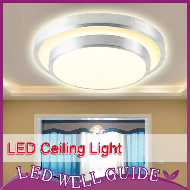 LED Ceiling Light Aluminum+Acryl 18w 24w 32w 110V~265V 8.1~13.7inch Surface Mounted Warm white Cool white LED down light