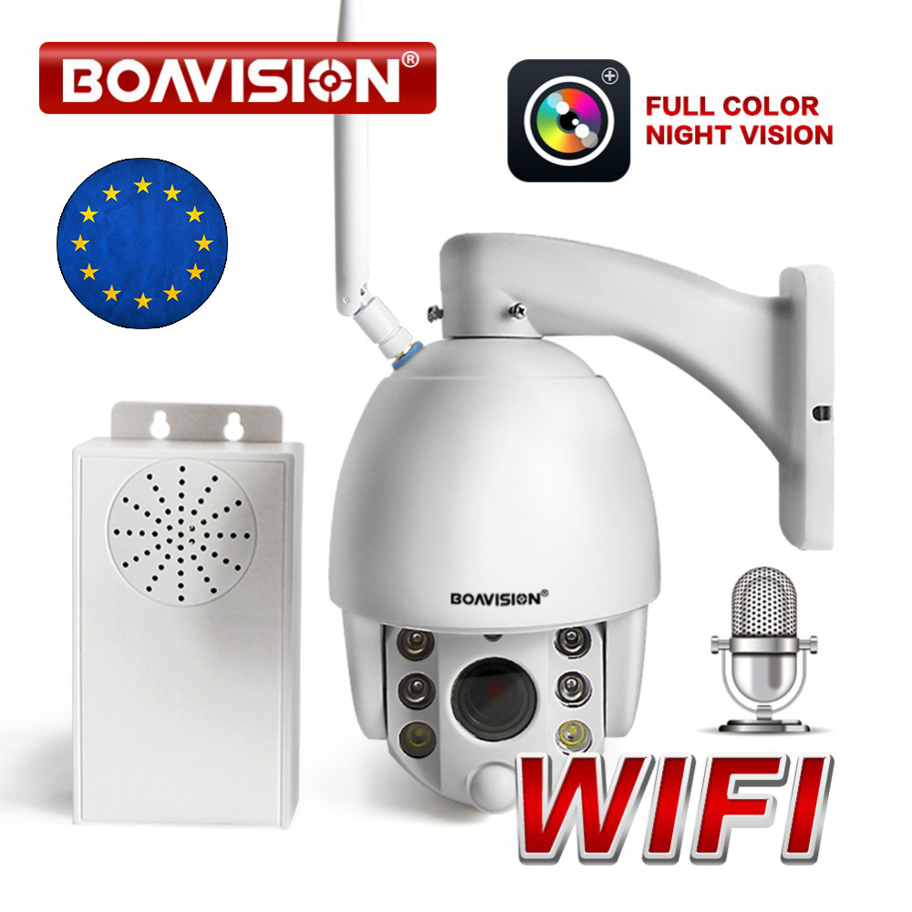 HD 1080P Wireless PTZ Dome IP Camera WIFI Outdoor 5X 10X Zoom Full Color Night View