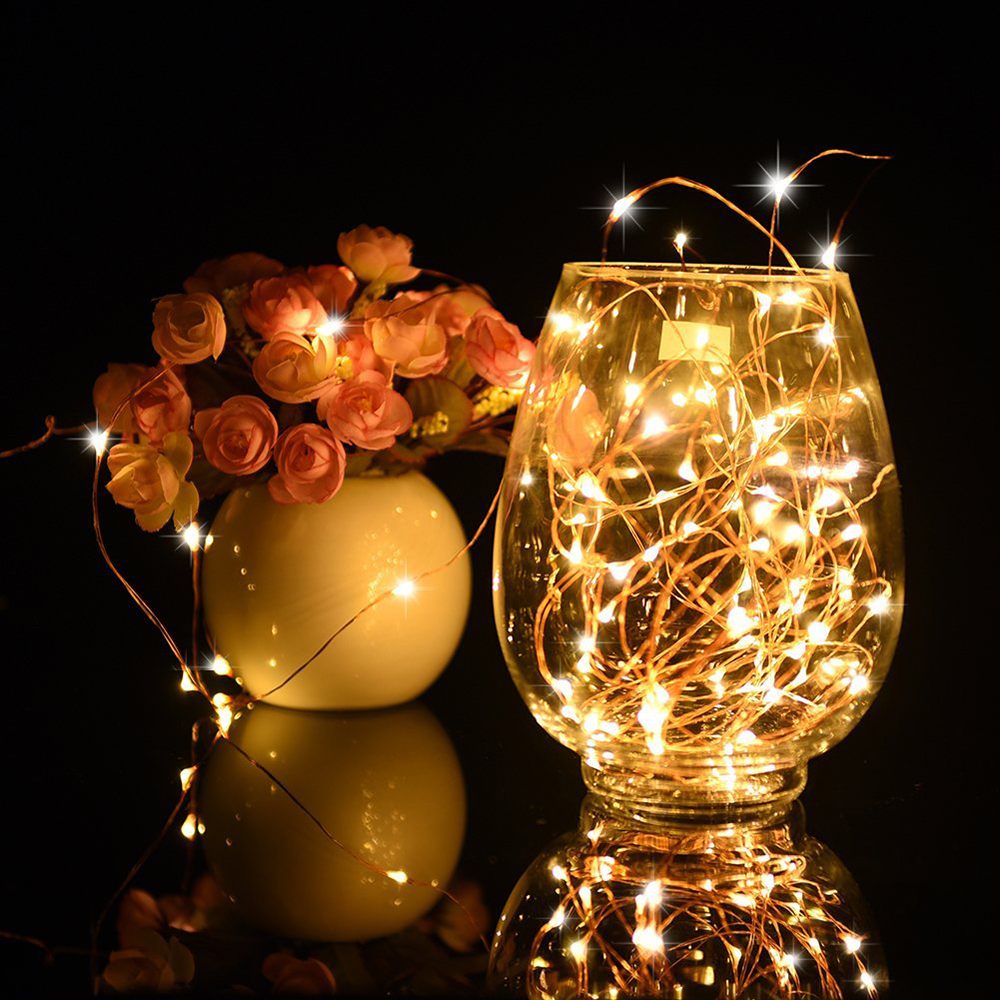 Led christmas string Light 2M 5M Multi-color waterproof new year wedding party decoration string light Lamp 3XAA Battery powered