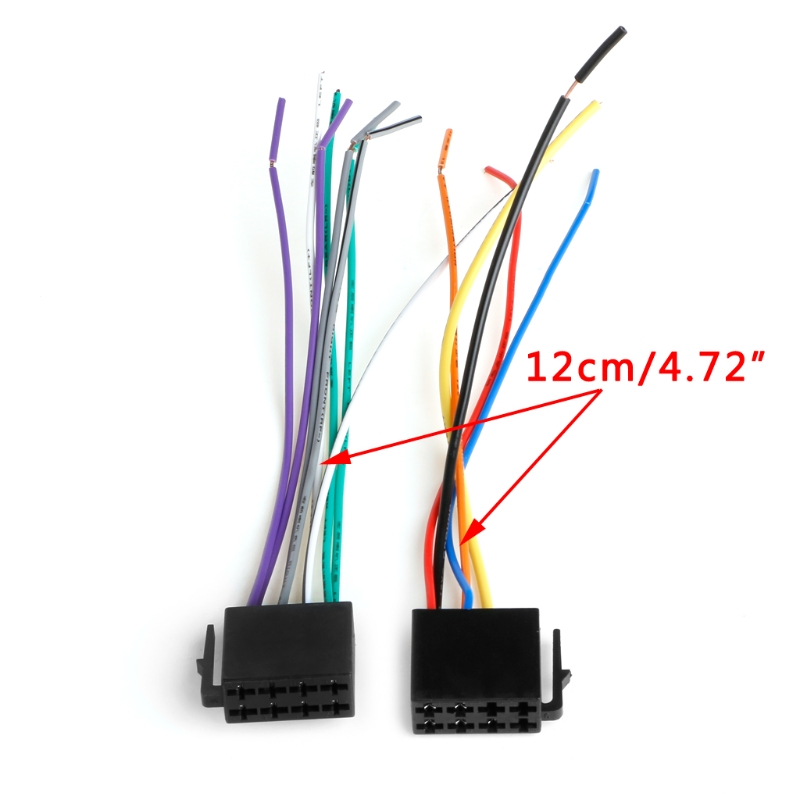 1Pair Universal ISO Wiring Harness Car Radio Adaptor ... on car stereo cover, car stereo with ipod integration, car stereo sleeve, car stereo alternators, car wiring supplies, leather dog harness, 95 sc400 stereo harness, car fuse, car speaker,