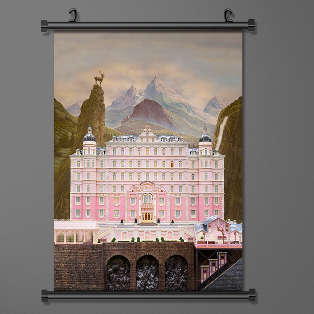 Wall Art Picture Hanging Movie Poster The Grand Budapest Hotel Art Silk Fabric Poster And Print Wall Scroll Painting
