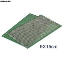 1 шт. 9x 15 см Прототип PCB 2 слоя 9*15 см панель универсальной платы двойная сторона 2,54 мм зеленый