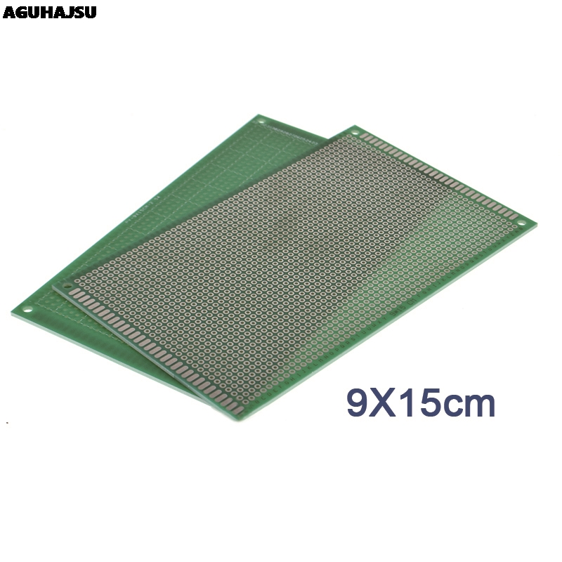 1PCS 9x15 Cm PROTOTYPE PCB 2 Layer 9*15CM Panel Universal Board Double Side 2.54MM Green