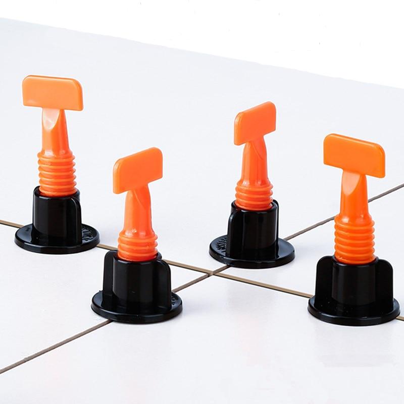 50 PCS Tile Alignment Tile Leveling System Carrelage Clip Adjustable Locator Spacers Plier Level Wedges Hand Tools