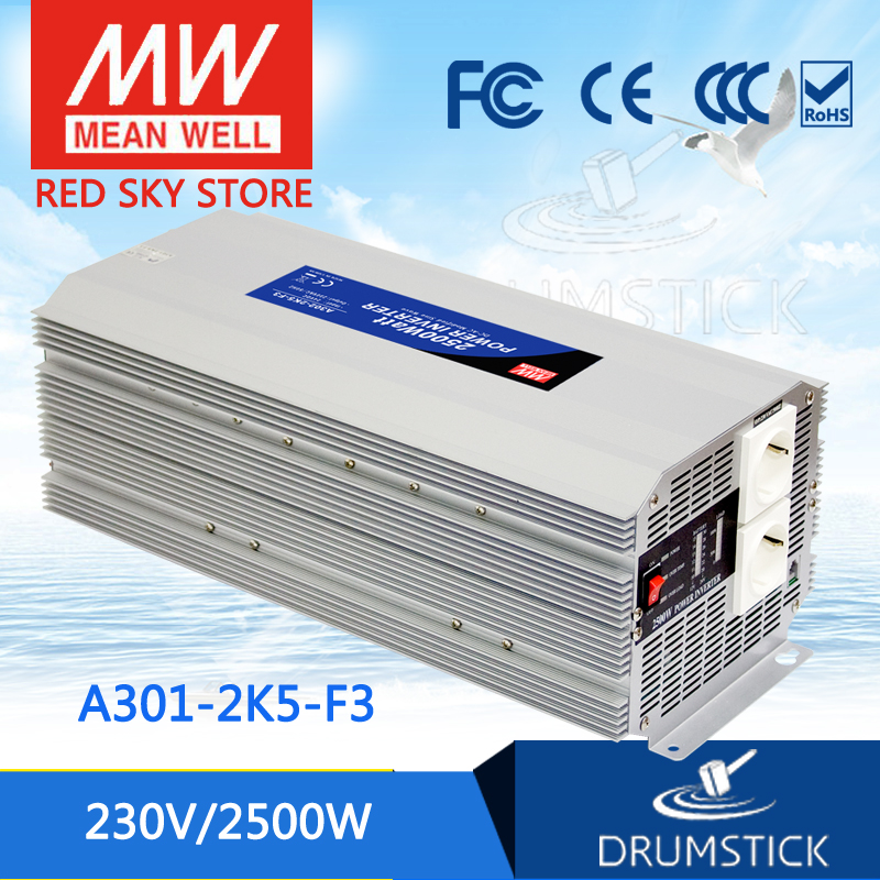 Original MEAN WELL A301-2K5-F3 230V  meanwell A301-2K5  2500W Modified Sine Wave DC-AC Power Inverter k well kwf300n