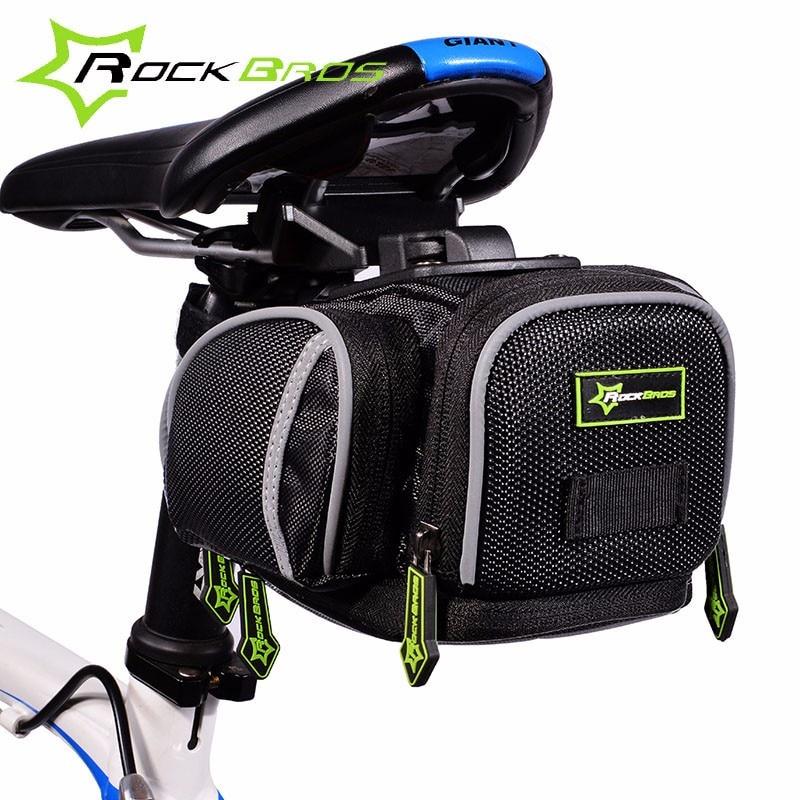 Rockbros จักรยานกระเป๋ากันน้ำภูเขาถนนจักรยานกระเป๋าสะท้อนแสงขี่จักรยานอานกลับที่นั่งกระเป๋าอุปกรณ์เสริม Bisiklet Aksesuar