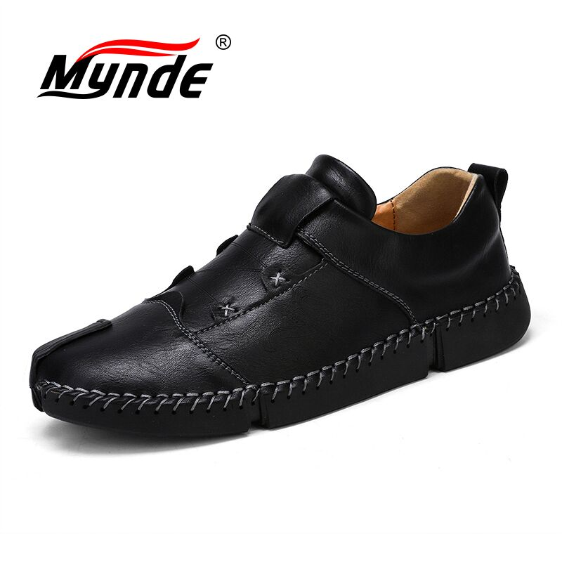 Mynde Men's   Leather   Casual Shoes Moccasins Men Loafers Luxury Brand Spring New Fashion Sneakers Male Boat Shoes   Suede   Krasovki
