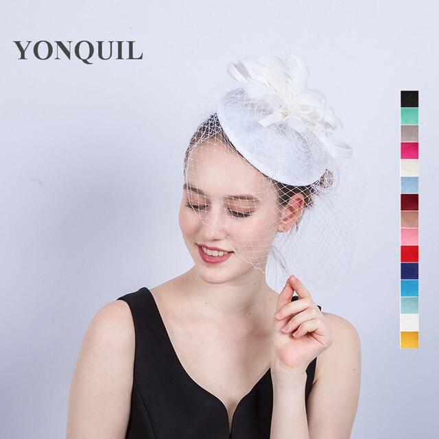 Ladies fancy races wedding hats veils fascinators bridal ...