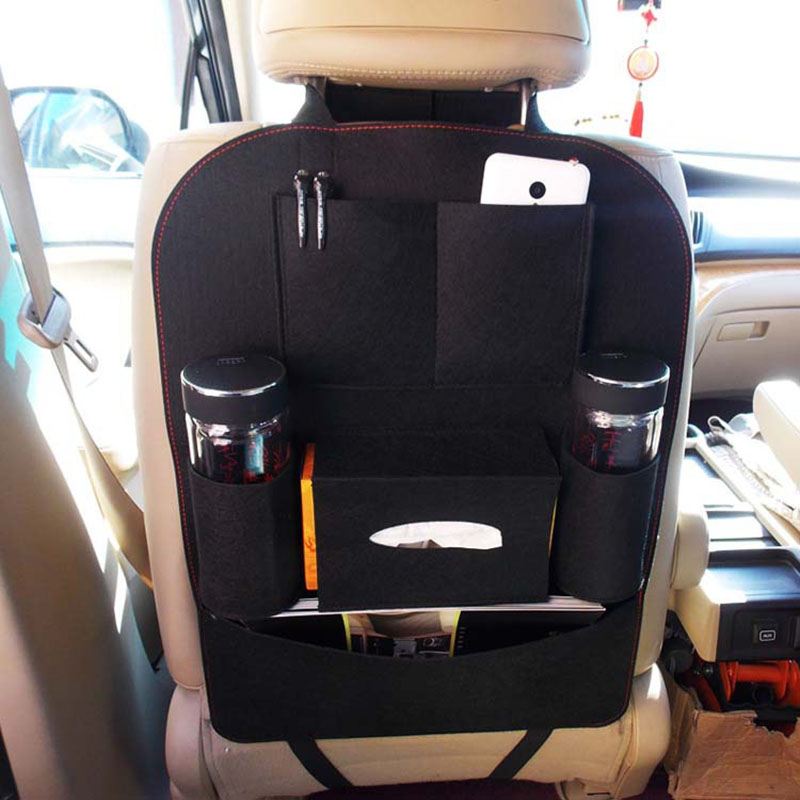 Auto Car Seat Storage Bag Car Seat Back Ravel Storage Bag