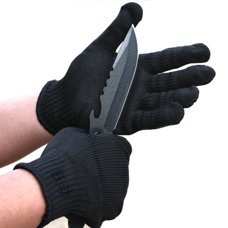 ФОТО Protective gloves thickening and reinforcing 5 protective gloves for preventing cutting field of self-defense equipment