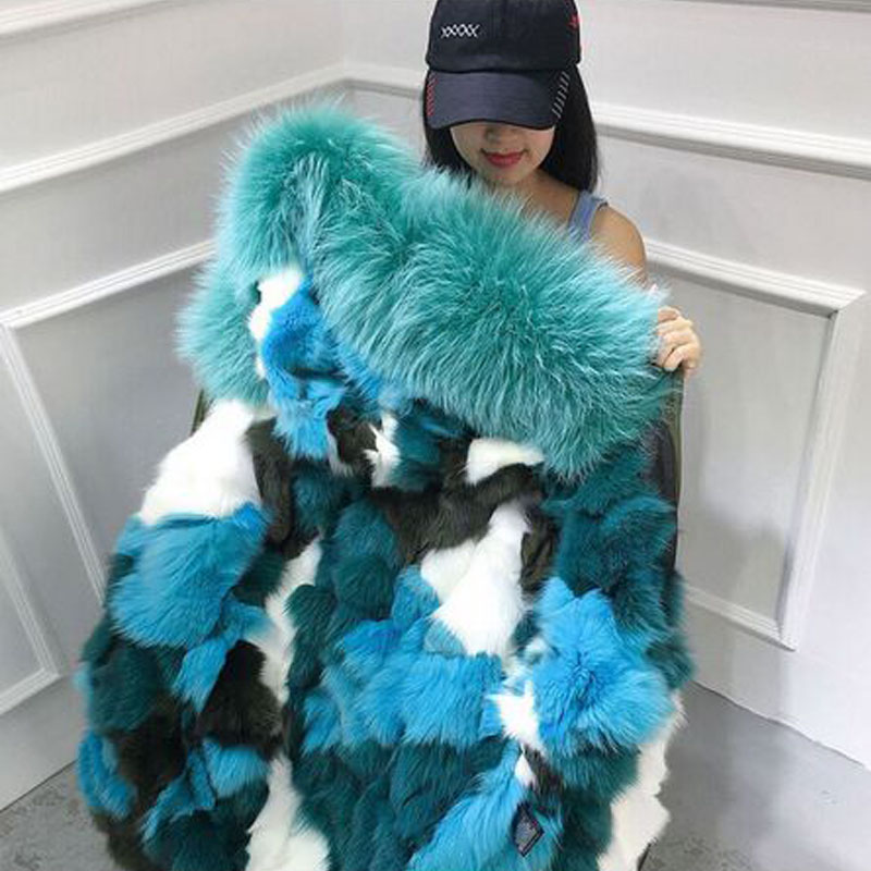 Large Real Natural Raccoon Fur 2017 New Brand Parkas Real Warm Fox Fur Liner Thicken Warm Coat Winter Jacket Women Hooded Parkas 2017 new fashion women large raccoon fur collar hooded coat warm fox fur liner parkas long winter jacket
