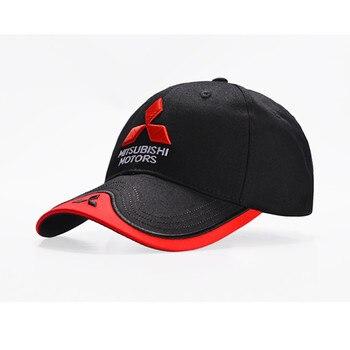 Baseball Cap Mitsubishi logo Embroidery Casual Snapback Hat 2019 New Fashion High Quality Man F1 Racing Motorcycle Sport hat bone para bordar