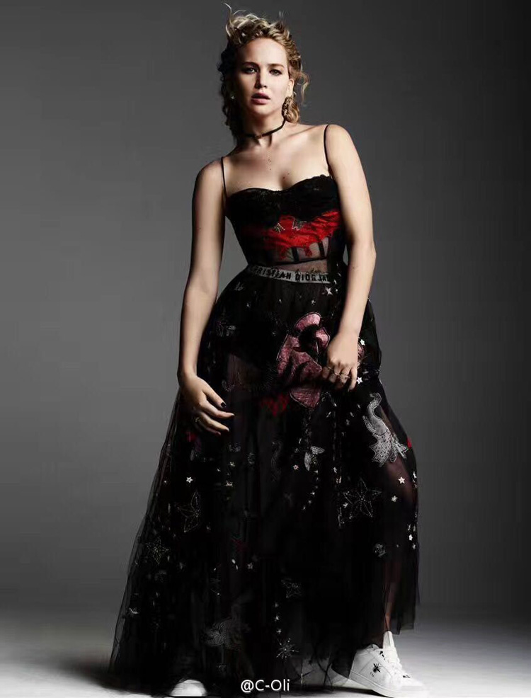 New dress Voile Strapless runway black tulle Spaghetti Strap Embroidery embroidery yarn custom